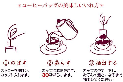 コーヒーバッグの淹れ方